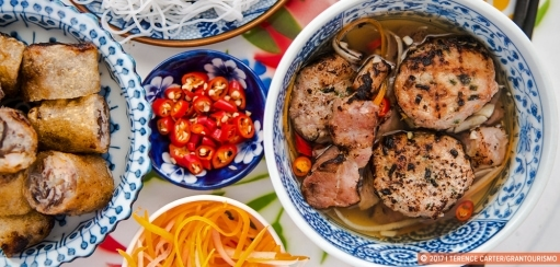 Vietnamese Bun Cha Recipe – Chargrilled Pork Patties, Pork Belly, Noodles and Herbs