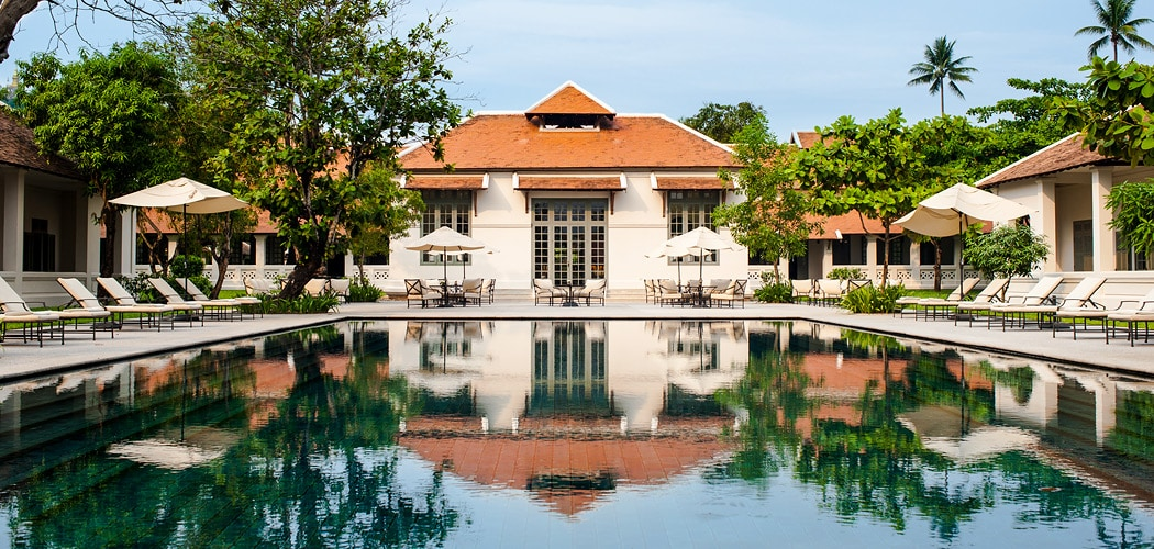 Best hotel swimming pools in the world, Amantaka Resort, Luang Prabang, Laos. Copyright © 2017 Terence Carter / Grantourismo. All Rights Reserved. Best Luang Prabang Boutique Hotels.