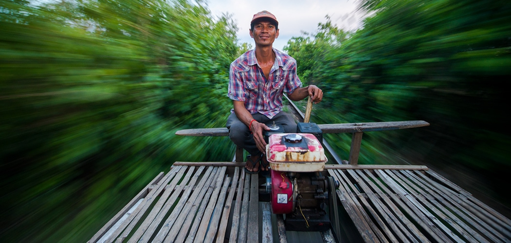 Battambang Bamboo Train. Copyright © 2017 Terence Carter / Grantourismo. All Rights Reserved.