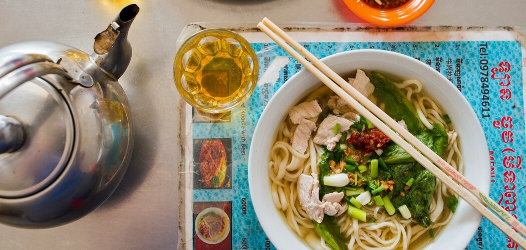 Chinese hand-pulled noodle soup