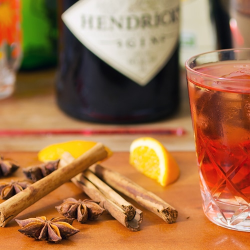 Classic negroni with spices. Copyright © 2017 Terence Carter / Grantourismo. All Rights Reserved.