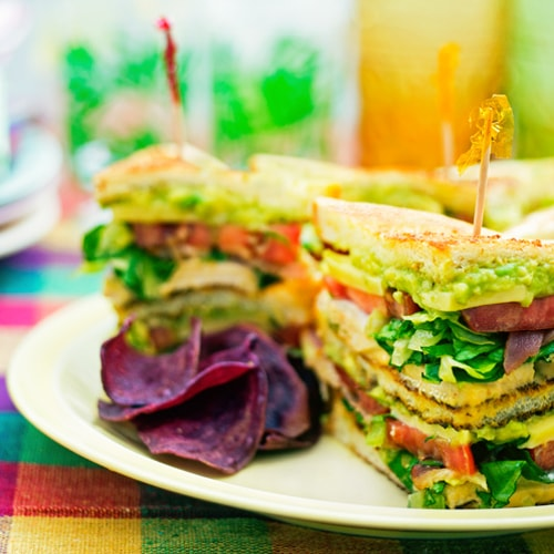 Turkey Avocado Club Sandwich with Sriracha Mayonnaise. Copyright © 2017 Terence Carter / Grantourismo. All Rights Reserved.