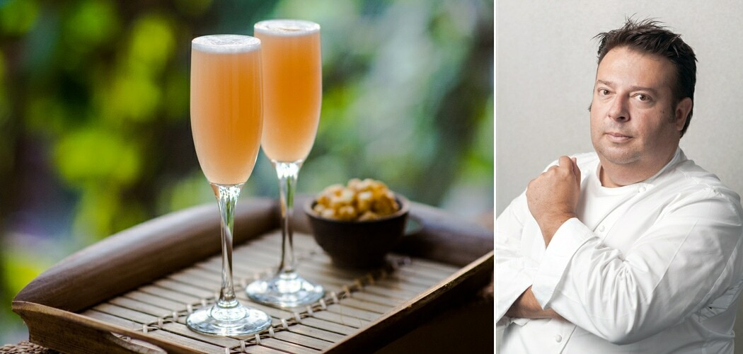 White Peach Bellini Recipe and Christmas Tips from Chef Peter Gi