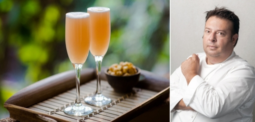 White Peach Bellini Recipe and Christmas Tips from Chef Peter Gilmore