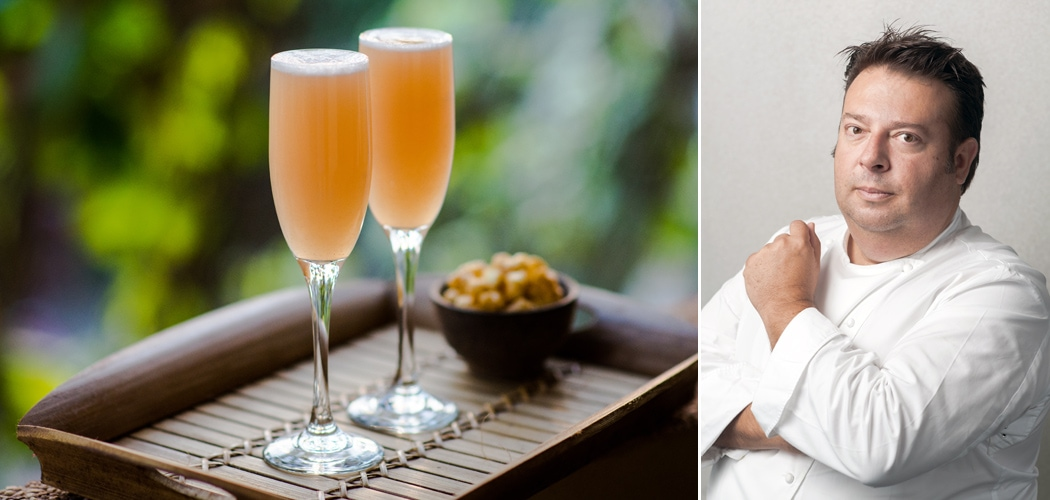 White Peach Bellini Recipe and Christmas Tips from Chef Peter Gilmore. Copyright © 2017 Terence Carter / Grantourismo. All Rights Reserved.