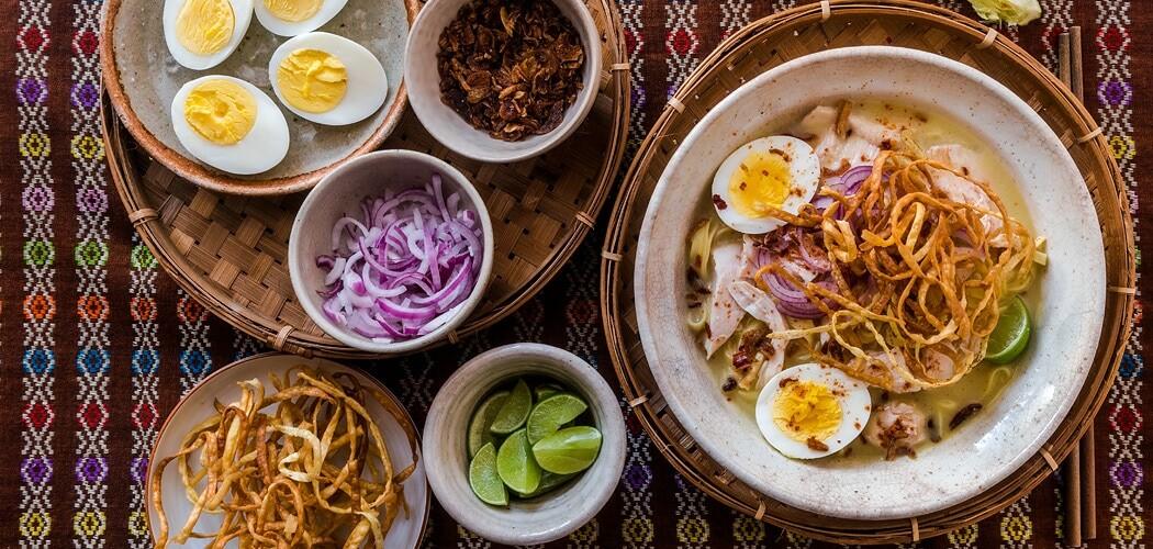 Ohn No Khao Swe Recipe – Burmese Chicken Coconut Noodle Soup
