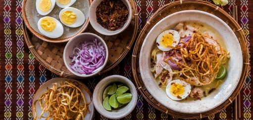 Ohn No Khao Swe Recipe – Burmese Chicken Coconut Noodle Soup
