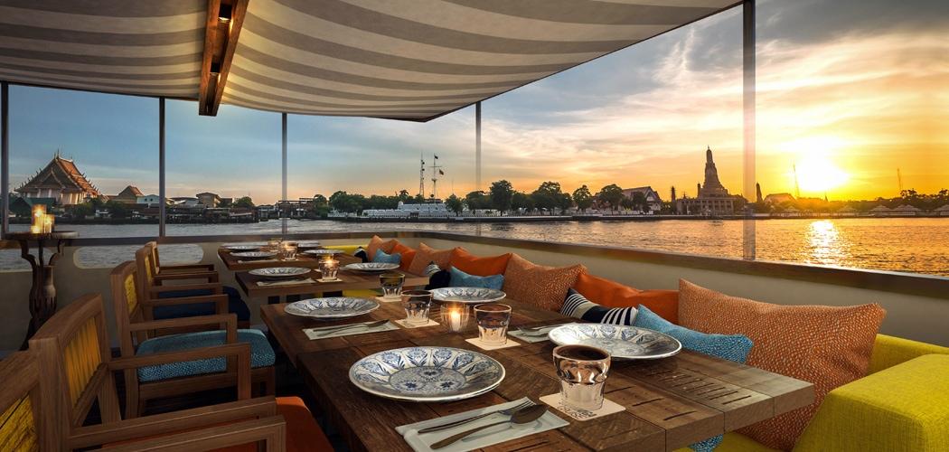 Supanniga Cruise, Bangkok, Thailand. Part of the Bangkok Riverside Renaissance.