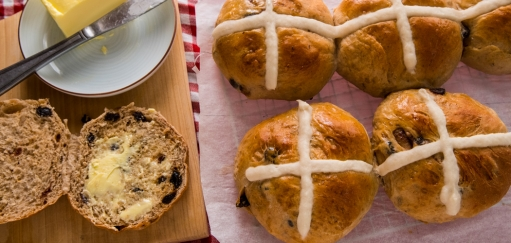 Hot Cross Buns Recipe for Easter with a Spicy Fruity Southeast Asian Twist
