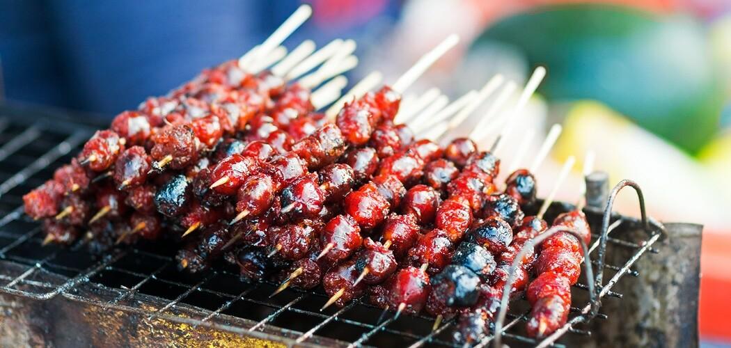 Grilled Pork Sausages, Best Siem Reap Food Experiences