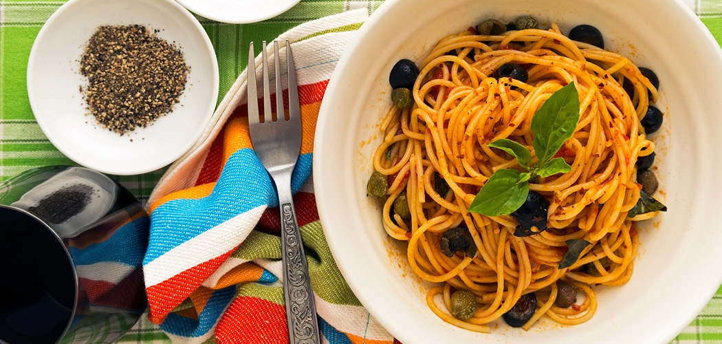 Spaghetti Alla Puttanesca Recipe. Copyright © 2018 Terence Carter / Grantourismo. All Rights Reserved.