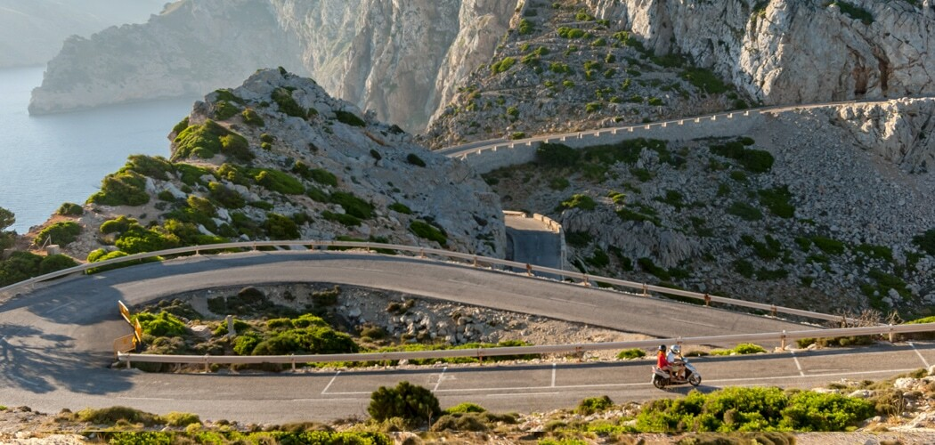 Spectacular roads at Formentor, Mallorca, Spain