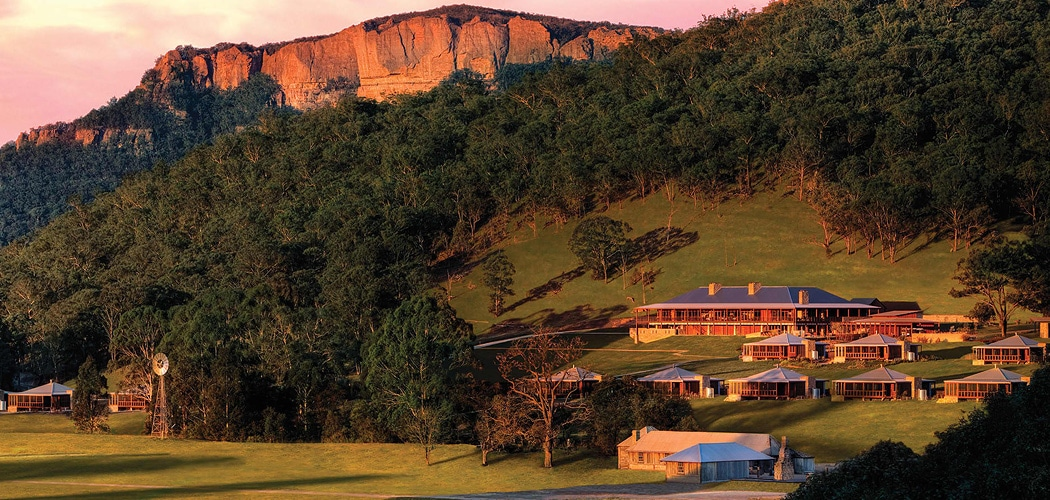 Most beautiful Blue Mountains accommodation. Wolgan Valley, Blue Mountains, NSW, Australia.