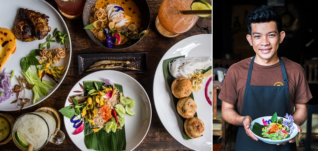 Chef Mork Mengly at Pou restaurant, Siem Reap, Cambodia. Copyright © 2018 Terence Carter / Grantourismo. All Rights Reserved. The Cambodian Chef Cooking Local Food For People Who Travel for Food.