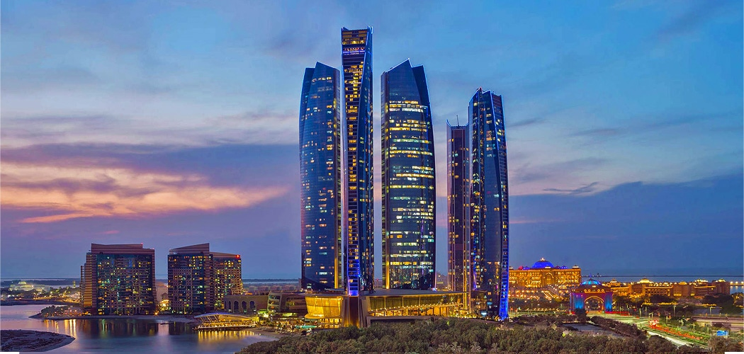 Jumeirah at Etihad Towers Hotel, Abu Dhabi, UAE. One Day in Abu Dhabi – Where to Stay, Sightsee, Shop, Explore, and Eat.