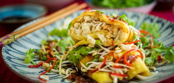 Crab Omelette Recipe. Copyright © 2018 Terence Carter / Grantourismo. All Rights Reserved. 10 Most Popular Recipes of 2018 on Grantourismo Travels.