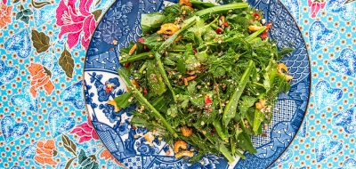 Fresh Herb Salad Recipe – Yum Chee from 100 Mahaseth Restaurant Bangkok. Copyright © 2018 Terence Carter / Grantourismo. All Rights Reserved.