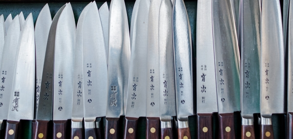 Japanese handmade knives. Copyright © 2018 Terence Carter / Grantourismo. All Rights Reserved. Foodie Gift Ideas for Home Cooks from Pro Chefs.
