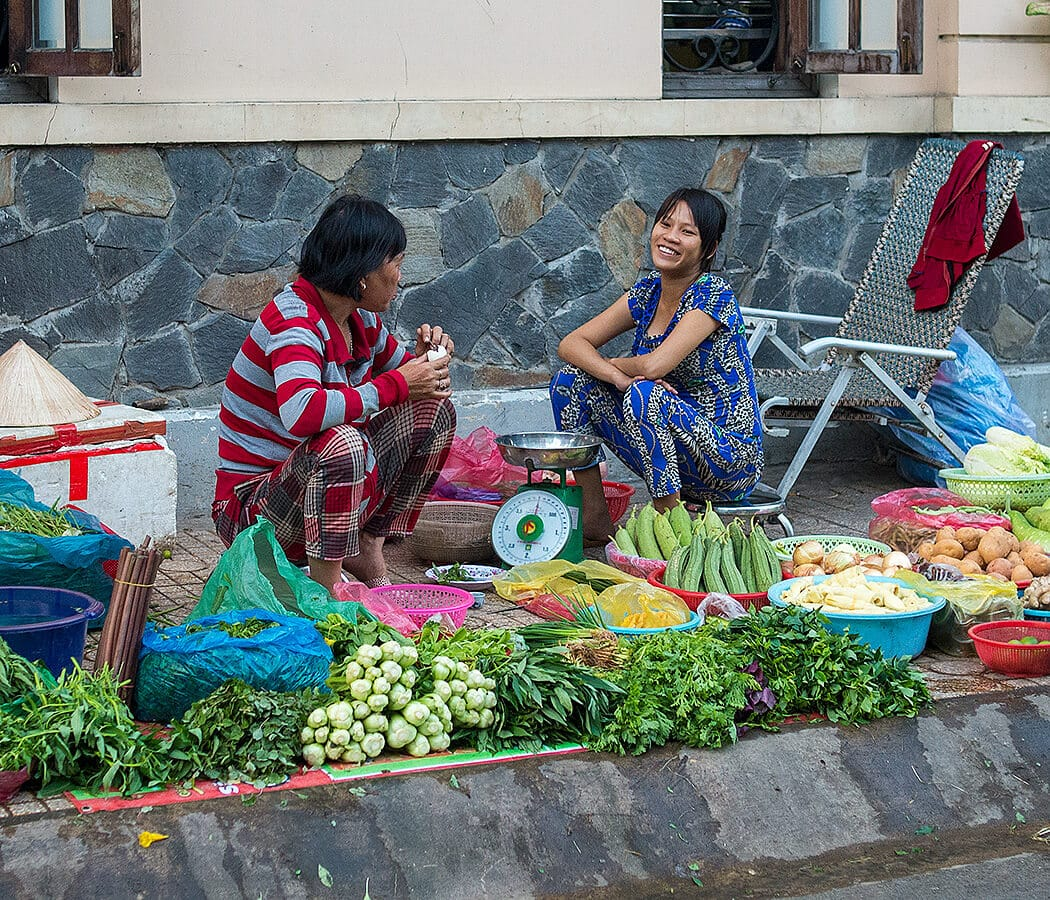 Street Market in Saigon, Vietnam. Copyright © 2019 Terence Carter / Grantourismo. All Rights Reserved. Vietnam Cuisine and Culture Tour 2019.