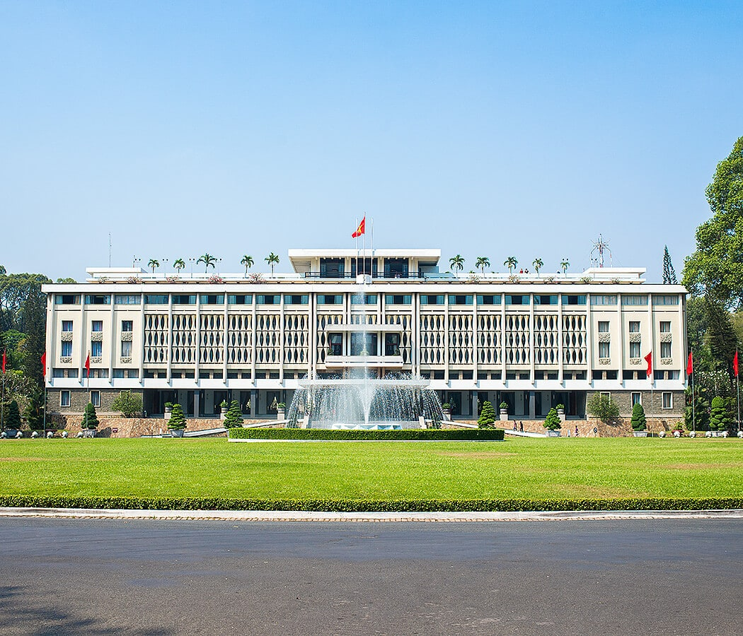 Reunification Palace, Ho Chi Minh City (Saigon). Copyright © 2019 Terence Carter / Grantourismo. All Rights Reserved. Vietnam Cuisine and Culture Tour 2019.