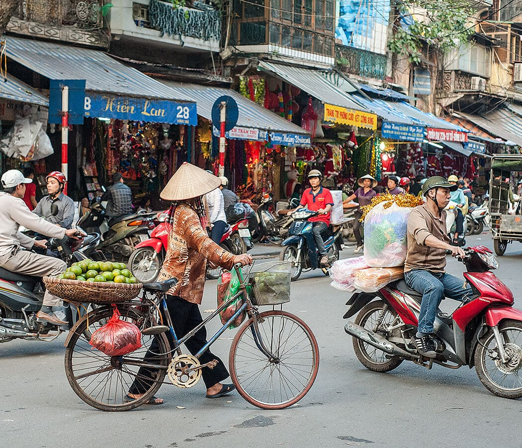 Hanoi Old Town Street Life, Vietnam. Copyright © 2019 Terence Carter / Grantourismo. All Rights Reserved. Vietnam 2019 Cuisine and Culture Tour.