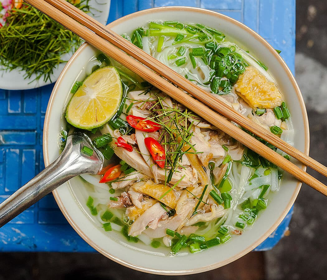 Pho Ga, (chicken noodle soup), Hanoi, Vietnam. Copyright © 2019 Terence Carter / Grantourismo. All Rights Reserved. Vietnam 2019 Cuisine and Culture Tour.