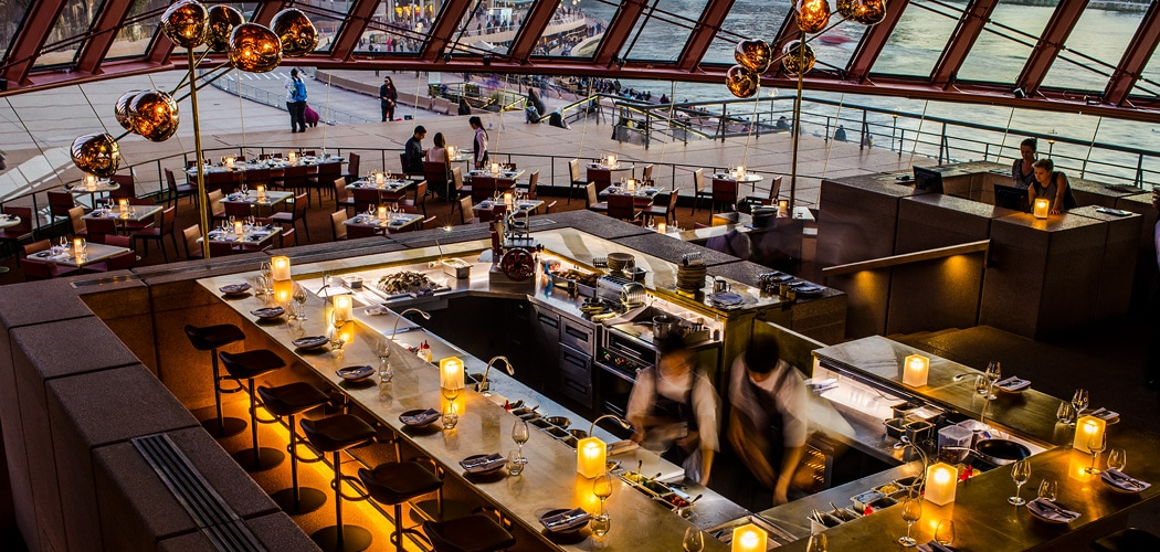Bennelong Restaurant at the Sydney Opera House. Copyright © 2019 Terence Carter / Grantourismo. All Rights Reserved. Best Sydney Restaurants.