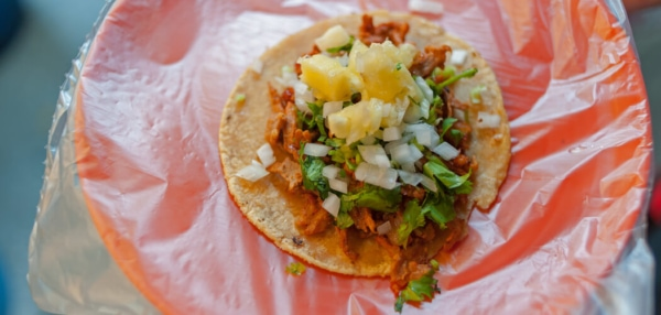 Authentic tacos al pastor. Copyright © 2019 Terence Carter / Grantourismo. All Rights Reserved. No-Recipe Recipes – Fun Idea or Short Cut to Kitchen Nightmares.