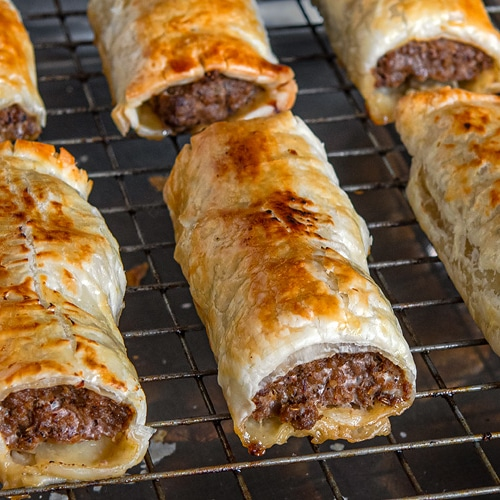 Homemade Curried Beef Sausage Rolls Recipe With Cambodian Saraman Curry. Copyright © 2020 Terence Carter / Grantourismo. All Rights Reserved.