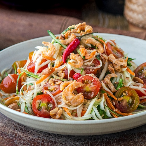 Green Papaya Salad Recipe – How to Make Cambodian Bok Lahong. Copyright © 2020 Terence Carter / Grantourismo. All Rights Reserved.