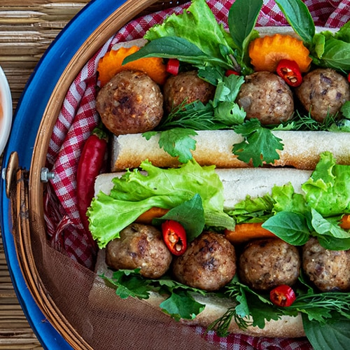 Num Pang with Meatballs Recipe for the Best Summer Baguette Sandwich. Copyright 2021 Terence Carter / Grantourismo. All Rights Reserved.
