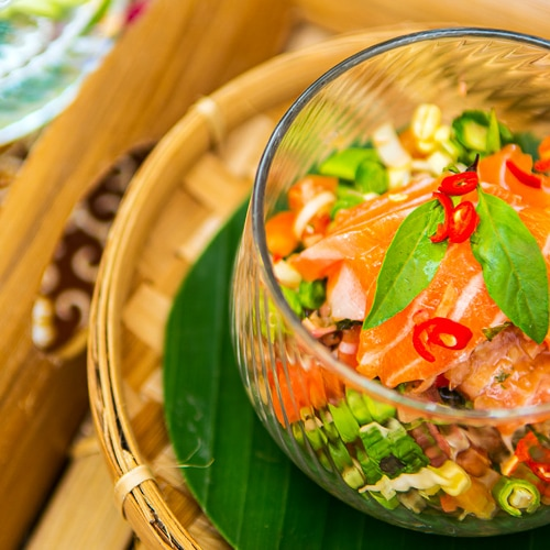 Khmer Raw Fish Salad Recipe for Phlea Trei Cambodian Ceviche. Copyright © 2021 Terence Carter / Grantourismo. All Rights Reserved.
